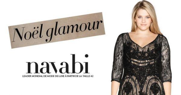 Noël luxe et glamour en grande taille avec Navabi