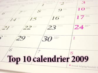 Top 10 calendrier 2009