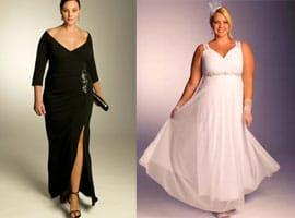 Robe longue pour mariage femme ronde