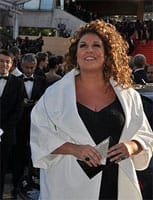 Marianne James au festival de cannes
