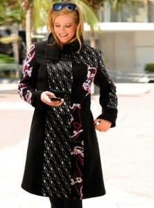 Manteau cintre taille femme