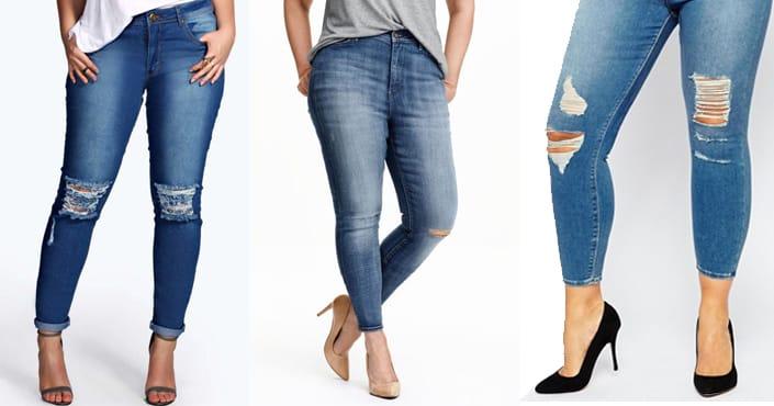 grande déchirés slimskinny Vivelesrondes taille 10 Jeans wOvxq0
