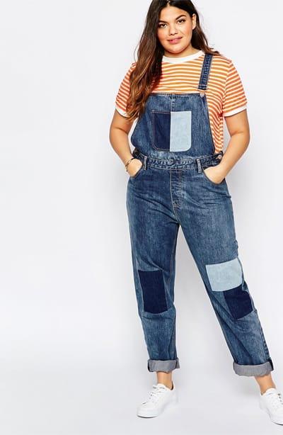 Salopettes et Combinaisons en jeans grande taille - Vivelesrondes ! 9571878d7f3