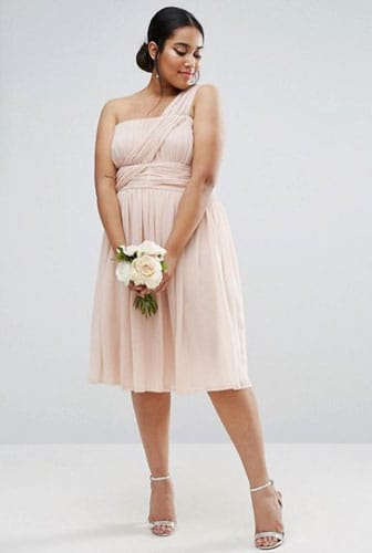 Robe cocktail rose grande taille