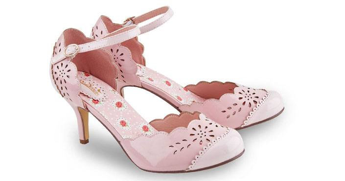 chaussures grande pointure rose