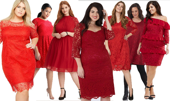 Robe soiree rouge grande taille