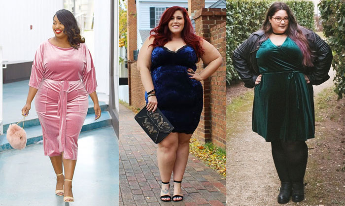robe velours grande taille
