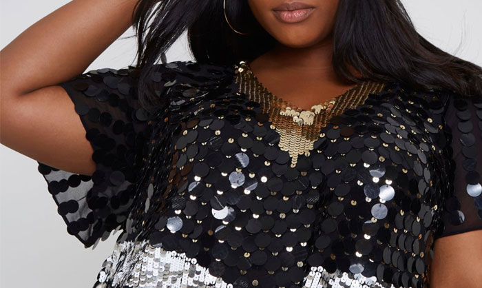 sequins grande taille