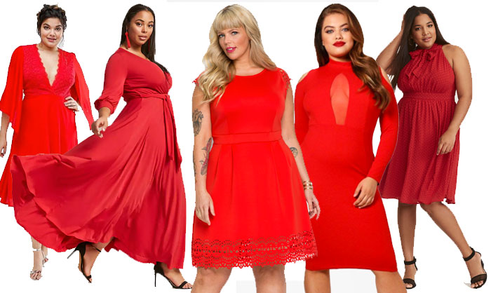 robe grande taille rouge