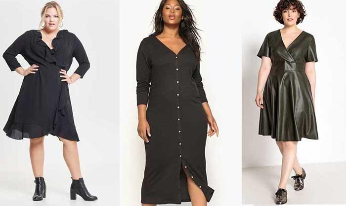 2bd41cd9ef6041 10 petites robes noires grandes tailles à moins de 40€ chez Castaluna