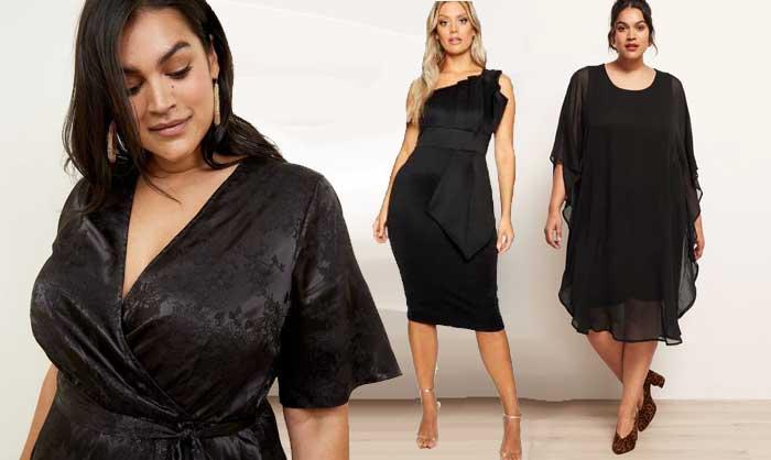 robes de fêtes grande taille noires et élégantes